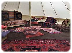 glamping nr betws-y-coed in bell tent