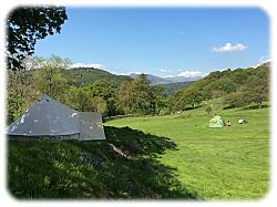 bell tent for glamping in snowdonia