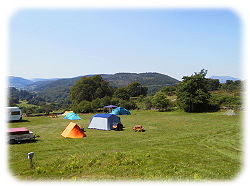 tents at the campsite nr betws y coed
