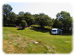 caravan / awning and tent on the camping site nr betws y coed