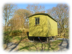 shepherds hut for glamping in snowdonia