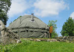 or go glamping in the yurt