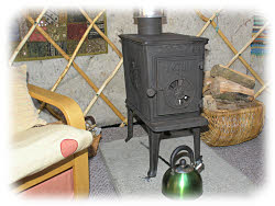 the stove and firewood
